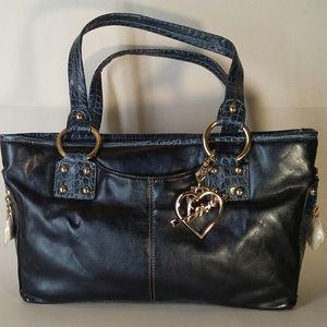 Kathy Van Zeeland Blue Handbag NWT